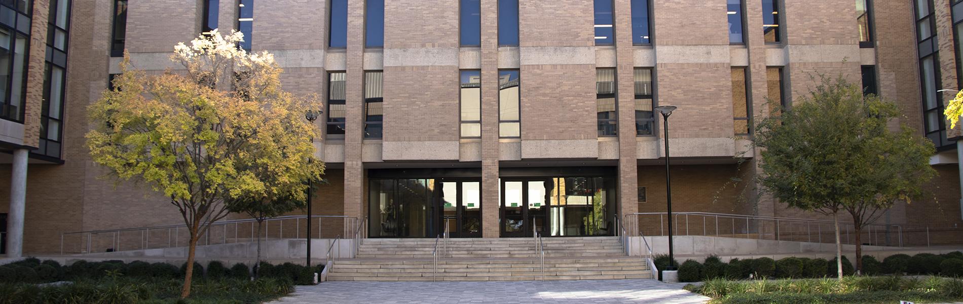 Art Building courtyard facing west