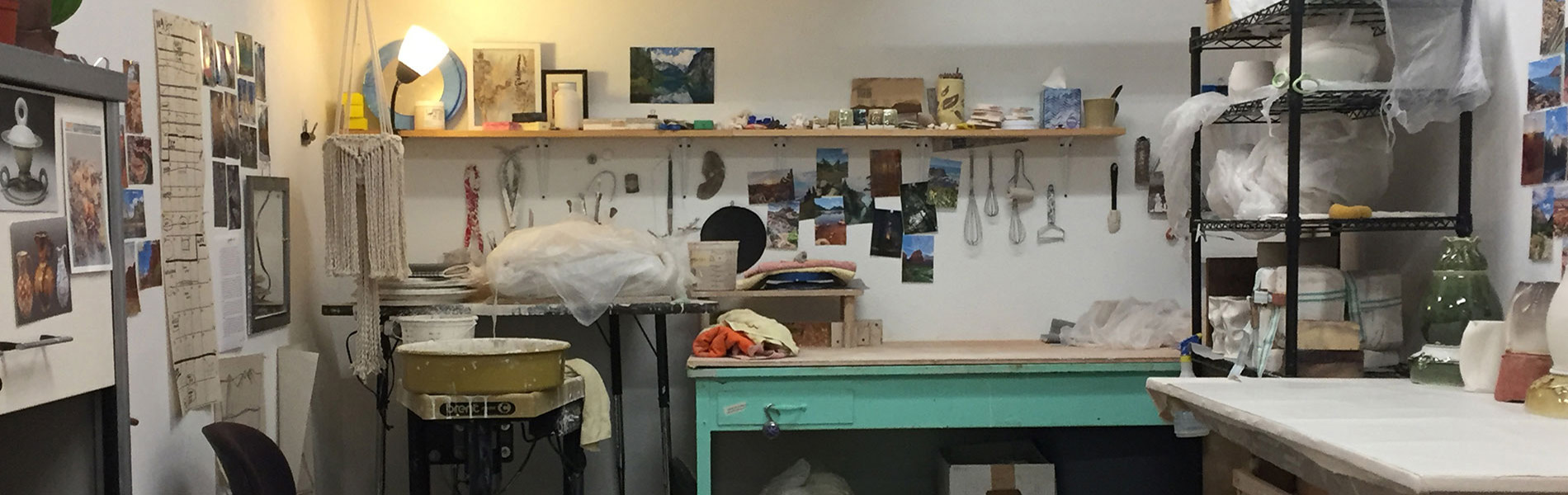 Ceramics Studio of an MFA student