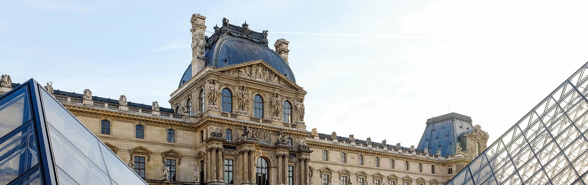 Louvre exterior, Paris, France