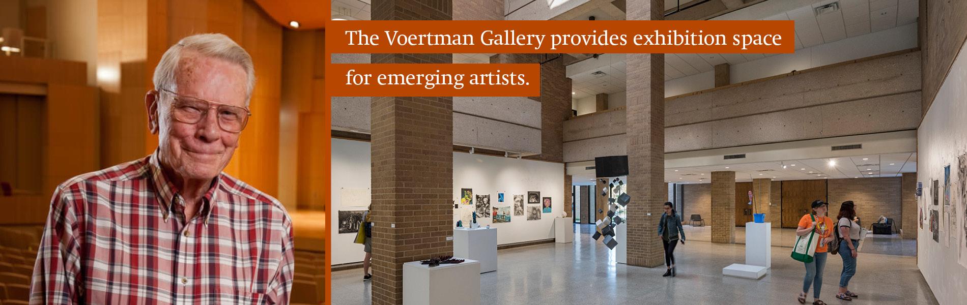 Paul Voertman and the Voertman Gallery in the Art Building