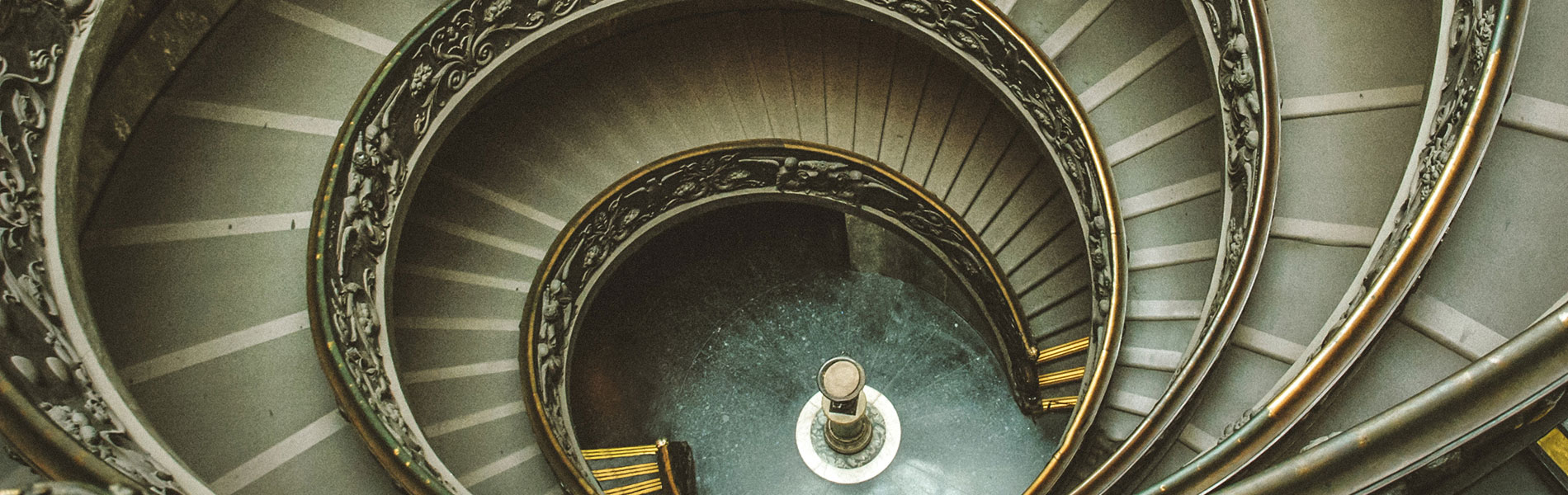 Spiral staircase with artistic embellishments