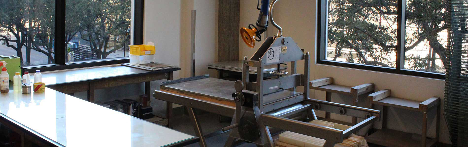 Studio Art Lithography Station in the Art Building